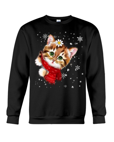 Cat christmas face