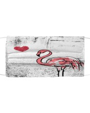 TH 32 Flamingo Heart Cloth face mask front