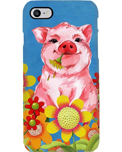 Pig flowers and blue sky case