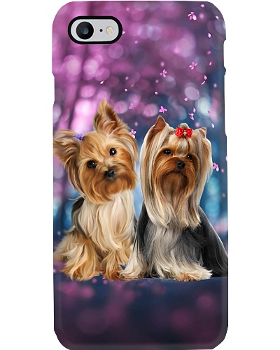 Yorkshire terrier unrealistic world phone case