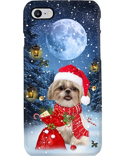 Qhn 9 Christmas Night Shih Tzu Phone Case