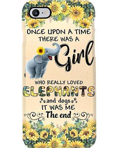 Elephant girl phone case
