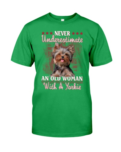 Yorkshire terrier never underestimate old woman
