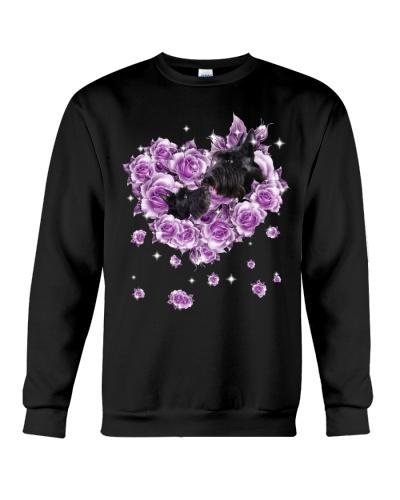 Scottish terrier mom purple rose shirt