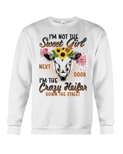 SHN I am not the sweet girl next door cow shirt