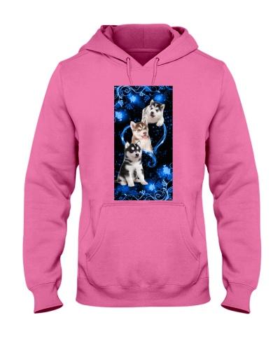 SHN 10 Twinkling blue heart Siberian Husky