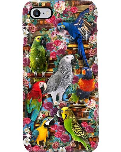Parrot Love Book Phone Case