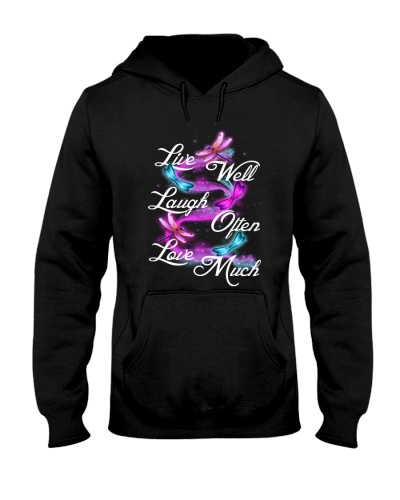 Qhn 10 Live Laugh Love Dragonfly Hoodie