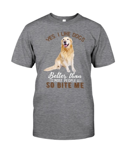 Golden retriever so bite me