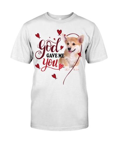 SHN 3 God gave me you Corgi shirt