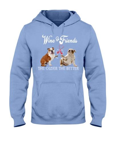 Wine And Friend Bulldog