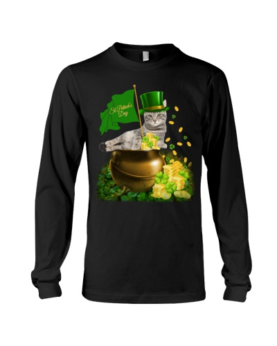 Royal Cat On The Gold Jar St Patrick Day Shirt