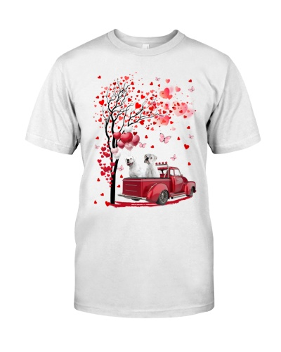 Red Car Love Tree White Boxer Shirt