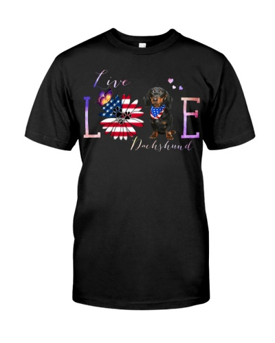 dt 10 dachshund with USA flag lovers 26520