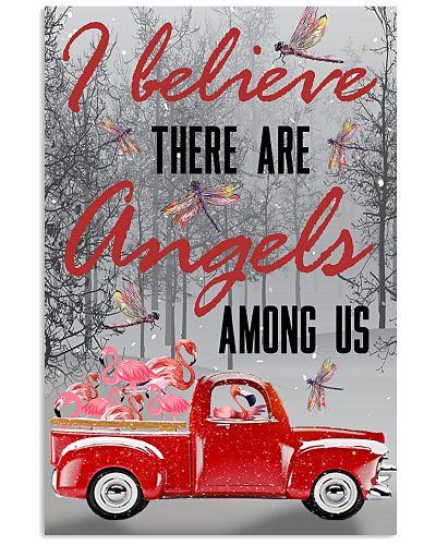 Flamingo angels poster