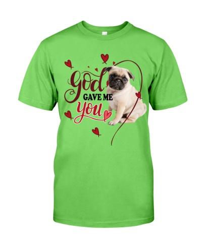 SHN 3 God gave me you Pug shirt