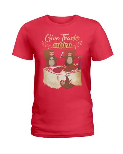 Sloth give thanks