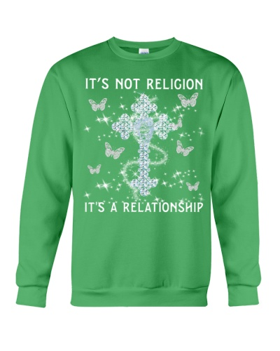 SHN Not religion a relationship Butterfly shirt