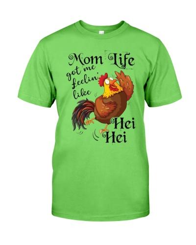 Chicken mom like got me feelin like shirt