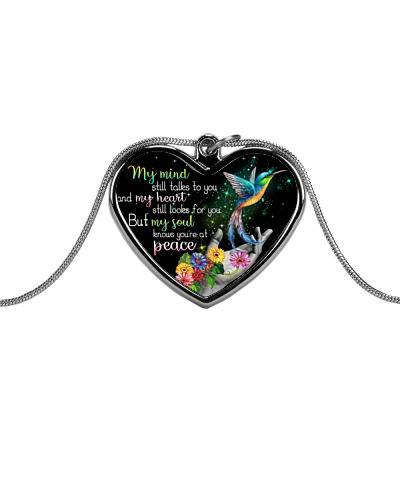 Hummingbirds peace necklace