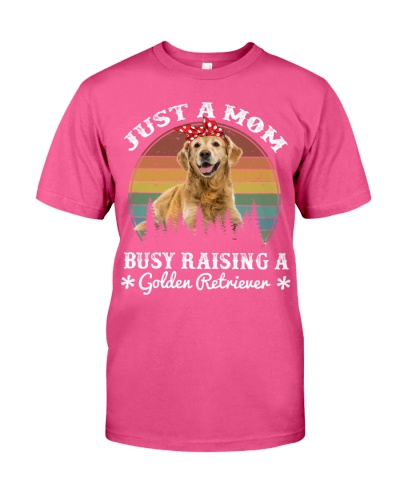 Golden Retriever Mom Busy Raising