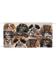 Monica Cavalier King Charles Spaniel many love Cloth face mask front