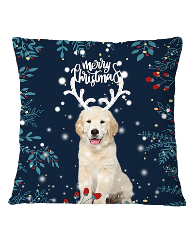Golden so cute christmas pillowcase