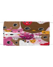 Th 2 kittens eyes Cloth face mask front