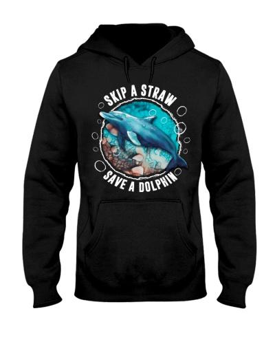 Dolphin keep a straw