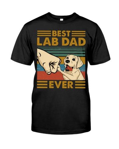 SHN 5 Best dad ever Labrador Retriever shirt