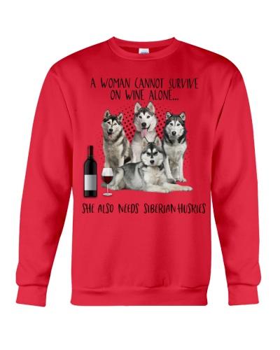 Siberian huskies wine she needs