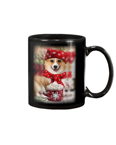SHN 10 Ice coffee Corgi mug