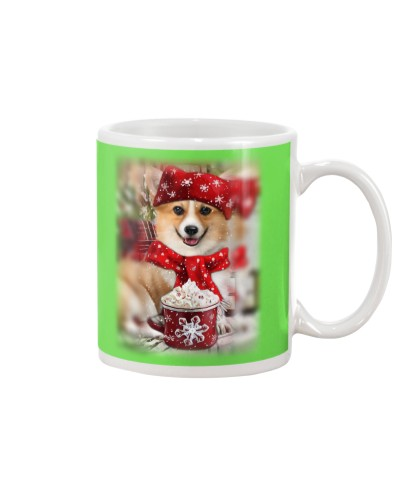SHN 10 Ice coffee Corgi mug