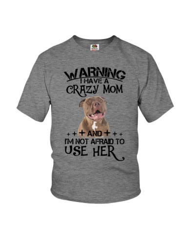 Pitbull warning kids shirt