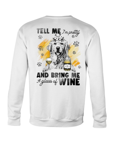 Golden Retriever And Wine