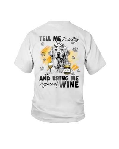 Golden Retriever And Wine