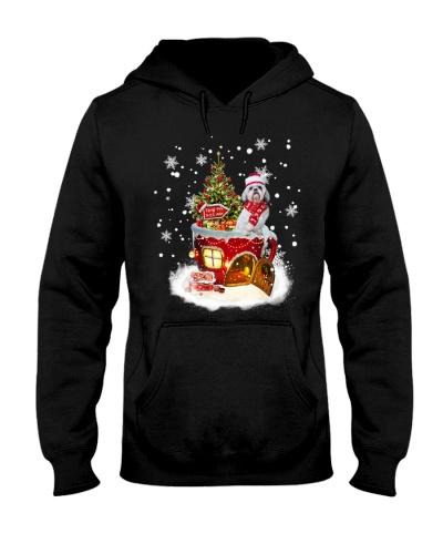 SHN 7 North pole this way Christmas Shih Tzu shirt