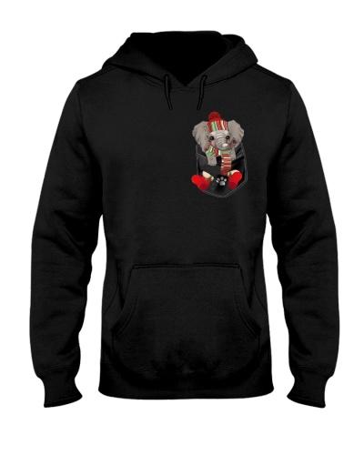 Elephant cute christmas pocket
