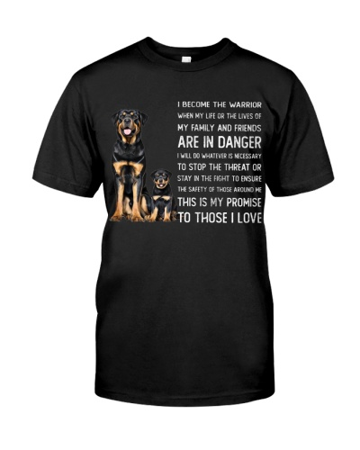 Rottweilers become the warrior shirt