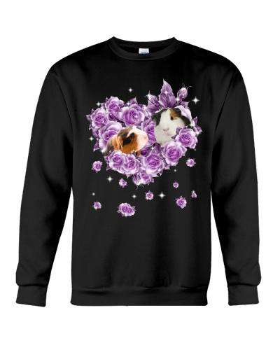 Guinea pig mom purple rose shirt