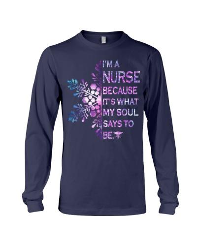 I am a nurse with flower snow shirt