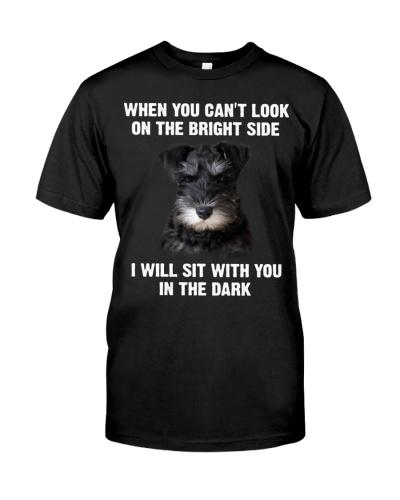 Schnauzer In The Dark