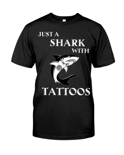 Shark with tattoos