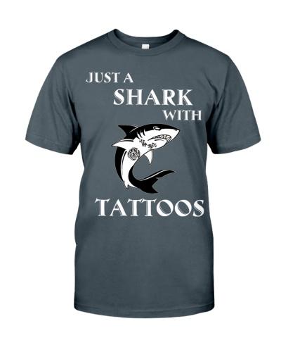 Shark with tattoos