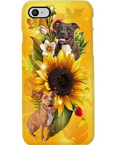 Sunflower With pitbulls