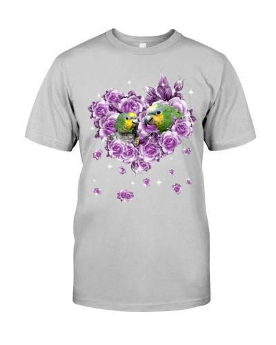 Parrot mom purple rose shirt