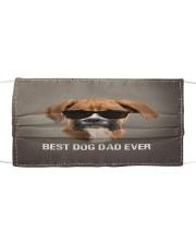Boxer Best Dog Dad Ever Cloth face mask front