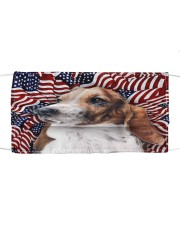TH 32 Basset Hound In USA Pattern Cloth face mask front