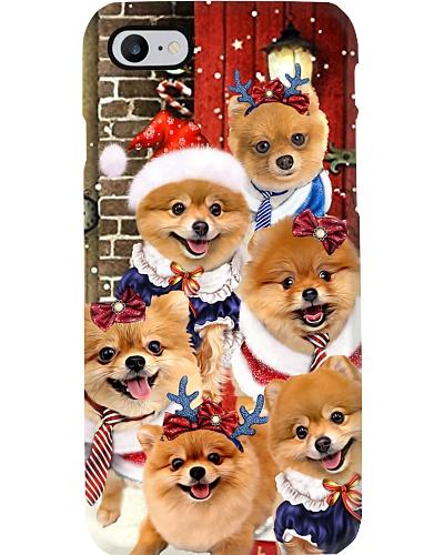 Pomeranian hello christmas case