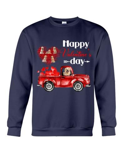 Happy vlt day heart car Golden retriever